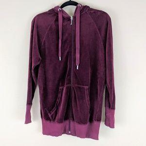 Juicy Couture Tops - Juicy Couture Velour Hoody ZipUp Jacket Sweatshirt